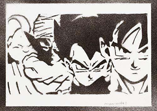 Dragonball Poster Goku Vegeta Piccolo Majin Bu Plakat Handmade Graffiti Street Art - Artwork