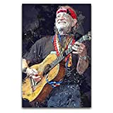 Willie Nelson - Póster decorativo para pared (30 x 45 cm)