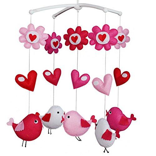 Baby Musical Mobile avec des oiseaux colorés, une berceau de musique exquise