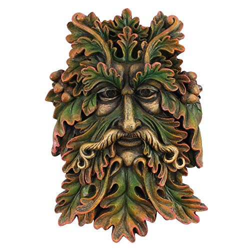 Tree Face Garden Sculpture Wall Plaque, Man of the Woods, for indoor - outdoor use Great Gift Idea Gardeners, Birthday, Anniversary, Christmas