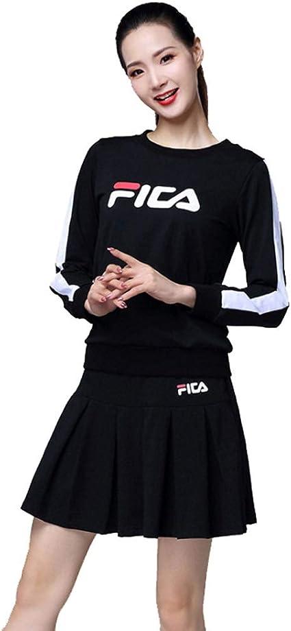 Traje Deportes Casual Wear de Manga Larga Falda de la Danza ...