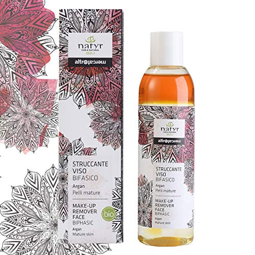 BIO Anti-Aging 2-phase makeup remover for eyes and face With argan oil, prickly pear, aloe vera for mature skin Natyr - Fair Trade natural cosmetics from Italy 200ml