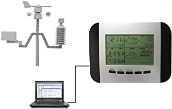 EP-Home Wireless Weather Station,Can Be Connected to The PC, USB Upload Weather Data, Wireless Weather Forecaster