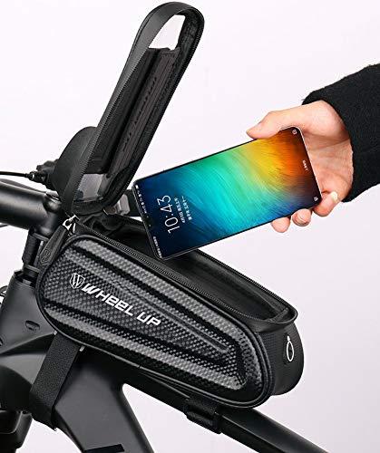SZKP Bolsas De Manillar con Marco De Bicicleta con Funda Impermeable para Teléfono con Pantalla Táctil para iPhone X 8 7 6s 6 Plus 5s Teléfono Celular Samsung Galaxy S7 por Debajo De 7.0 Pulgadas