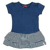 SALT AND PEPPER Baby-Mädchen B Dress Summer Uni Stufen Kleid, Blau (Cornflower Blue Melange 465), 74