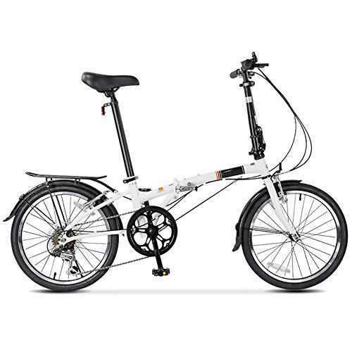 PLLXY 20in Vollfederung Fahrrad,Kompakte Fahrrad Urban Commuter,7 Gang-schaltung Klapprad Leicht Für Männer Frauen A 20in