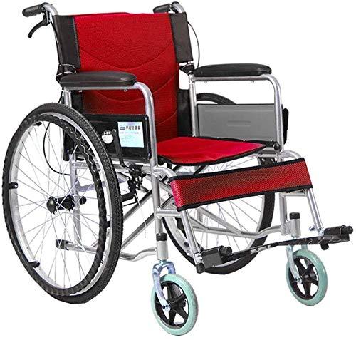 XDHN rolstoel, rolstoel, vouwbare rolstoel, kruiwagen, de oude mensen, draagbare ongeschikte multifunctionele ouderdoms-scootermaat -68 x 103 x 90 cm **