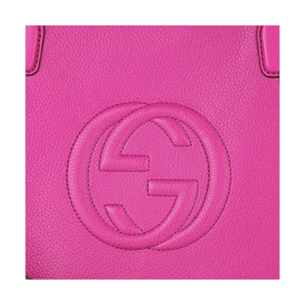 Fashion Shopping Gucci Women's 369176A7M0G5523 FUCHSIA LEATHER HANDBAG