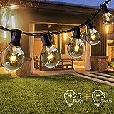 Opard Lichterkette Außen Lichterkette Glühbirnen G40 7.5M 28er Glühbirnen Lichterkette Außen Warmweiß Garten Lichterketten Außen...