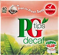 PG Tips Decaf (PGティップス デカフェティー 40袋)- 40 Bags / 125g【海外直送品】【並行輸入品】