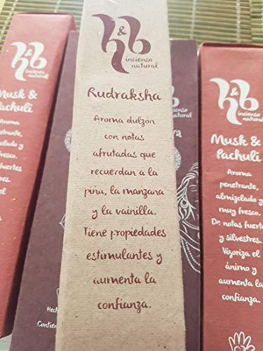 Qaromas Incienso Natural H&B Rudriksha 15g