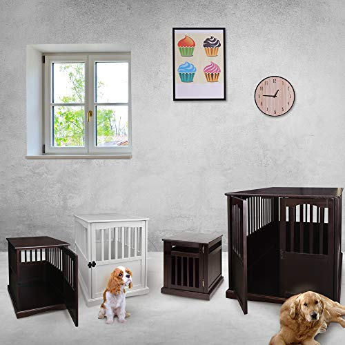"""Casual Home End Table, 24-Inch Pet Crate, 20"""" W x 27.5"""" D x H, Espresso"""