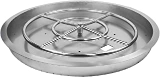 Starfire Designs Stainless Steel Round Drop-in Fire Pit with Burner Ring - (31-Inch, Round)