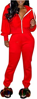 VEZAD Store Women Two Piece Outfits Tracksuit Long Sleeve Hoodie Coat + Jogging Suits