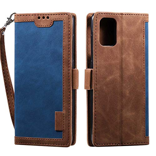 LAFCH Handyhülle Huawei P40 Hülle, Premium PU Leder Flip Schutzhülle für Huawei P40 mit Karteneinschub und Magnetverschluss, Blau