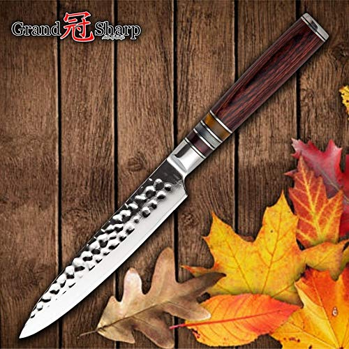 Best Quality Kitchen Knives 5 inch Utility Knife Japanese VG10 Steel Kitchen Knives Damascus Chef Knife Japanese Damascus steel Kitchen Knife BBQ Tool