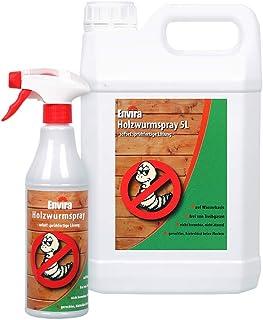 Envira Holzwurm-Spray - Holzwurm Ex Gegen Holzschädigende Insekten Mit Langzeitschutz - Auf Wasserbasis - 5Ltr500ml