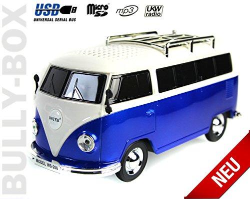 Nostalgie Bully - Box   Bulli Bus T1 Modell  Radio  BLAU  Deutsche Bedienungsanleitung