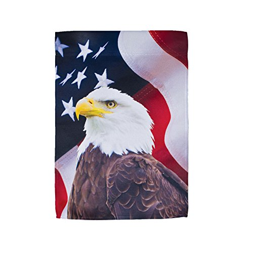 En la Brisa Nosotros Bandera Bordada casa Banner, Eagle Lustre, 12' x 18' Garden Flag