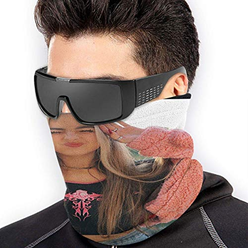 Yaxinduobao Calentador de cuello Addison Rae Elastic Microfiber Neck Warmer for Men and Women