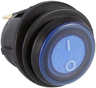 12V 16A Auto Rocker LED SWITCH, TOGGLE beleuchtet blau light rund Schalter SPST ON OFF Control 3Pin