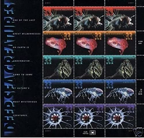 Deep Sea Creatures pane of 15 x 33 cent U.S. Stamps 199 by S.T.A.M.P.S