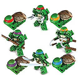 ★Collect 4 PCS mini Ninja Turtles, michelangelo, leonardo, da vinci mikey, donatello ★Green plastic, Size 6CM/2.3inches ★You will be surprised to find that there will be a different experience for the first time. Teenage Mutant Ninja Turtles can be d...