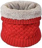 heekpek Calentador de Cuello Bufanda de Tubo Lazo para Hombre y Mujer Multifuncional Grueso y Cálido Bufanda y Gorra para Deportes de Invierno Desgaste de Pareja Fulares (Rojo)