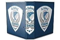 バインダー 2 Ring Binder Lever Arch Folder A4 printed Go fishing