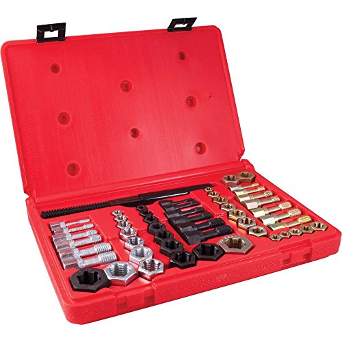 Gray Tools 91953 53 Piece Rethreading Kit, 19 Taps, 32 Dies and 2 Thread Files
