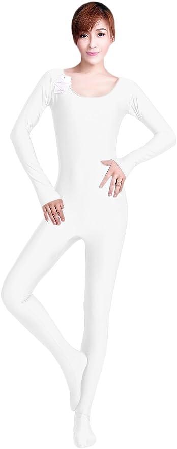 WOLF UNITARD Womens Long Sleeve Bodysuit Dance Unitard