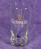 Vintage Guinness Brewed In Dublin 5 3/4' Tulip Beer Glass With Gold Harp Est 1759 Logo