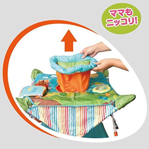 日本育児コンパクトにたためるポップアップジャンパー4つの楽しいおもちゃ付き