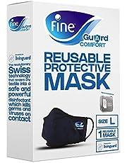 قناع الوجه المريح للبالغين من فاين غارد مع تقنية ليفينغارد، مانع للعدوى - مقاس كبير