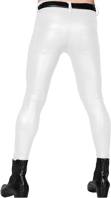 Harem Yoga Casual Premium Kunstleder Leggings Herren Slim Fit Hose