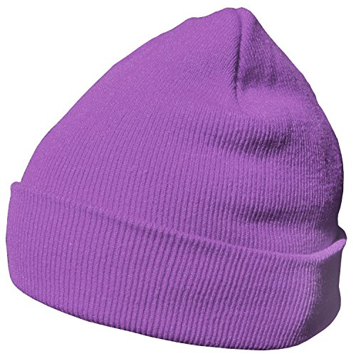 DonDon Wintermütze Mütze warm klassisches Design modern und weich violett