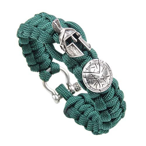 WXYBF Armband Helm Vorm Koper Nylon Touw Handgemaakte Trendy Manchet Bangles & Armbanden Voor Mannen Sieraden