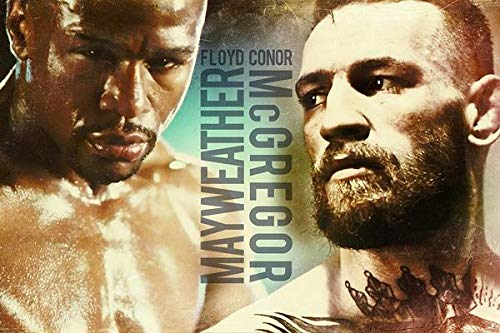 WOAIC Conor Mcgregor vs Floyd Mayweather Fan Art Pósteres For Bar Cafe Home Decor Painting Wall Sticker Frameless 24X36 Inch(60X90CM)