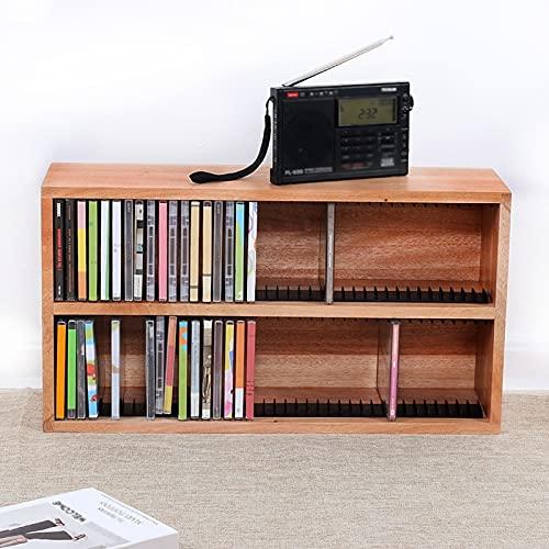 Nai-storage Estante Almacenamiento Discos Escritorio DVD Grande Madera, Colección Discos Antiguos, Soporte Exhibición CD, Muebles Oficina para Hogar (Color : 56 * 16 * 30cm)