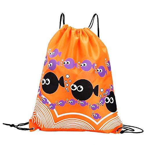 Rugzak - tas - tas - sport - rugzak - zwemmen - sport - gym - gymnastiek - trekkoord - dans - origineel cadeau-idee - regenjas - bubbels - vis - oranje