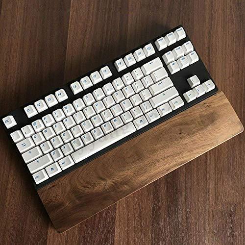 Walnuss Holz Rutschfest Tastatur Handballenauflage Pad, Ergonomische Gaming Schreibtisch Handgelenk Pad Unterstützung für 60 Schlüssel Tastatur, Mechanische Halter Hand für Computer Notebook
