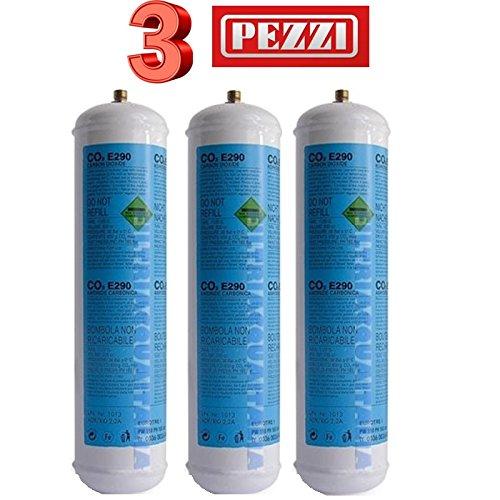 Filtri Acqua Italia Lotto 3X Bombole CO2 600g Monouso per Gasatori Domestici E290