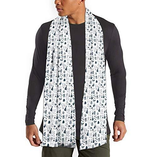 Butlerame Lebkuchen Hirsch Kerze Winter warme weiche Schal Mode Schals für Frauen Männer Geschenk