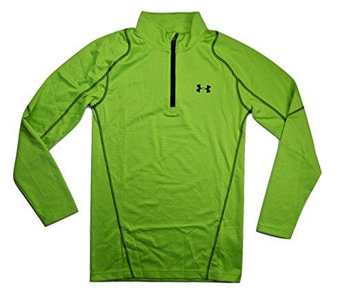 Under Armour Men's UA ColdGear Infrared Grid Zip Mock Small Green