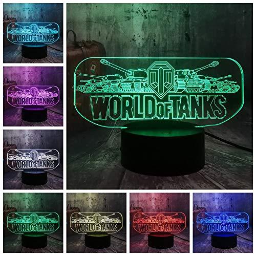 Cool Game World of Tanks 3D LED Night Light illusion Nouveauté Sommeil Table Lampe de Bureau Boyx Enfants Anniversaire Cadeau De Noël Décor À La Maison