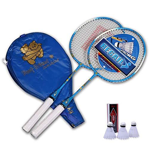Rubyu - Juego de raquetas de bádminton para niños, bádminton ligeras, entrenamiento para interior y exterior