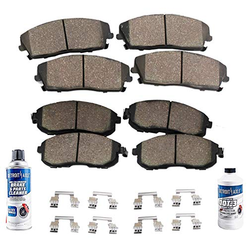 Detroit Axle - Brakes Kit Replacement for Buick Enclave, Chevy Traverse, GMC Acadia, Saturn Outlook - Front Rear Ceramic Brake Pads