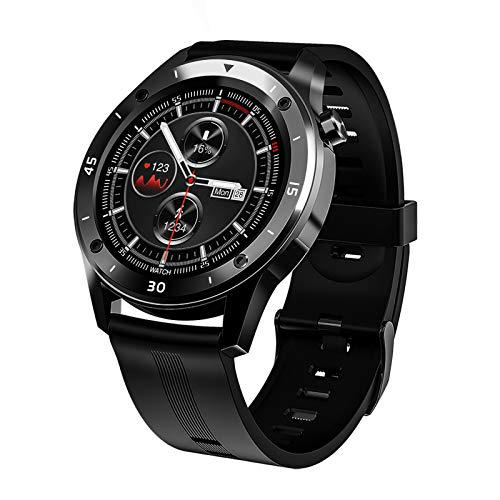FMSBSC Smartwatch Pantalla de 1.54 Pulgadas Reloj Inteligente con Pulsómetros para Mujer Hombre, Pulsera de Actividad Inteligente con Monitor de Sueño/Oxigeno Contador de Caloría Cronógrafo,Negro