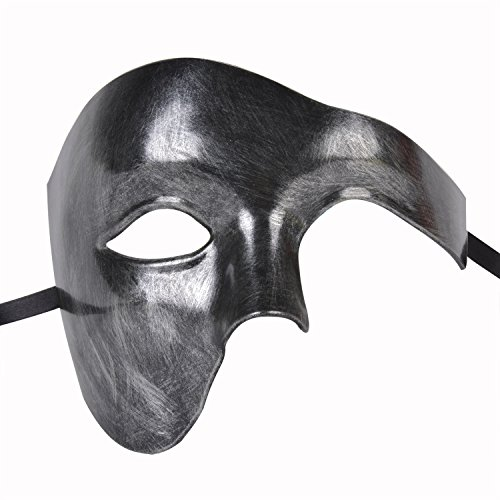 Funpa Venetiaans gezichtsmasker, halfgezicht, opermasker, kostuummasker, carnavalmasker voor mannen