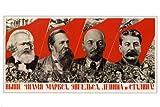 Propaganda Vintage Poster 1936 Marx Engels Lenin Stalin, 61